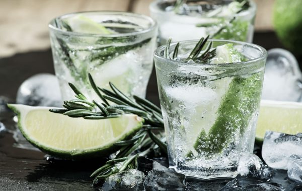 gin lime and rosemary