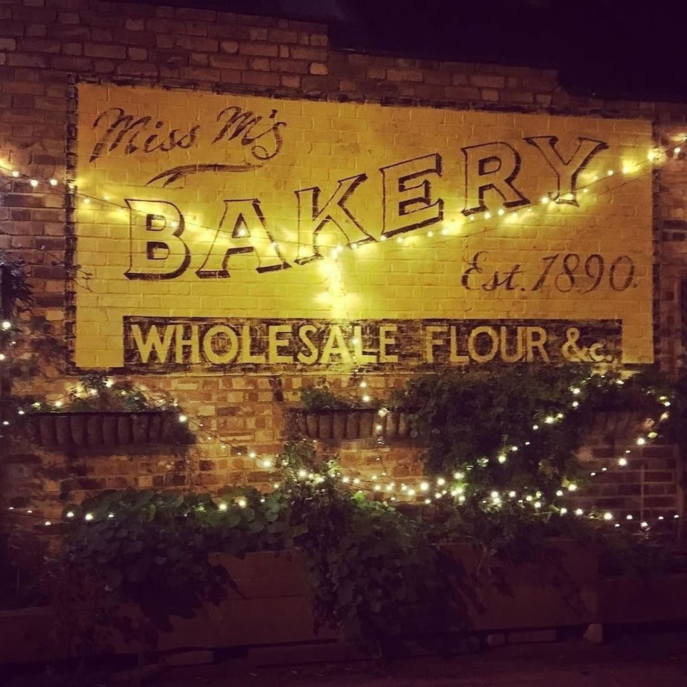 old bakery gin sign